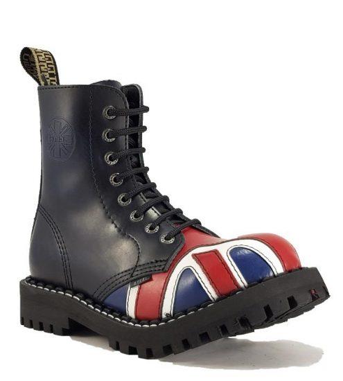 Steel - 8 soros UK zászlós bakancs