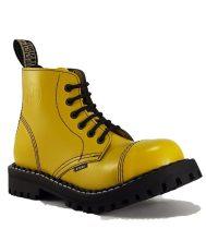 Steel - 6 soros full sárga bakancs