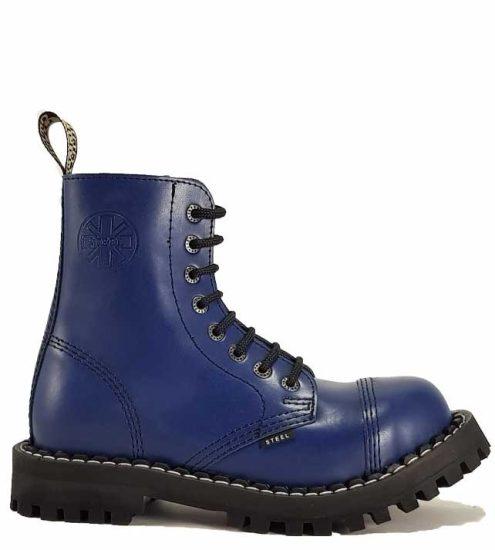 Steel - 8 soros full kék bakancs