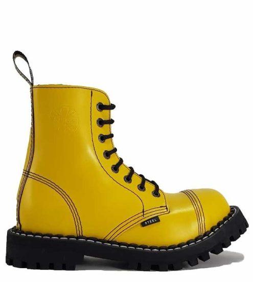 Steel - 8 soros full sárga bakancs