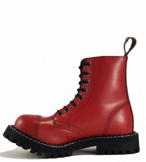 Steel - 8 soros full piros bakancs