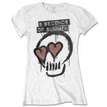 5 Seconds of Summer - Heart Skull női póló