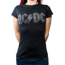 AC/DC strasszköves női póló