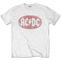 AC/DC - Oval Logo Vintage póló