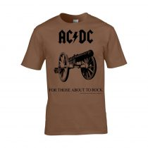 AC/DC - FOR THOSE ABOUT TO ROCK (BROWN) póló