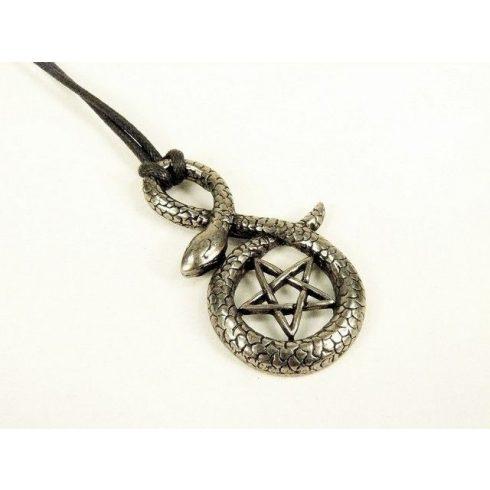 Pentagram kígyóval nyaklánc