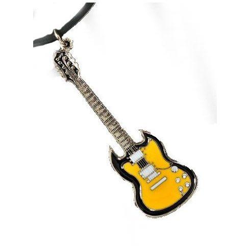 Sárga gitár nyaklánc