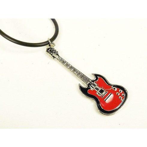 Piros gitár nyaklánc