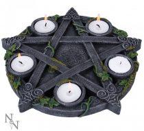 Wiccan Pentagram mécsestartó