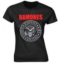 Ramones - RED TEXT SEAL LOGO női póló