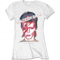 David Bowie - Aladdin Sane White női póló
