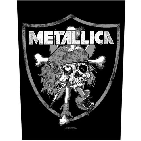 Metallica - Raiders Skull hátfelvarró