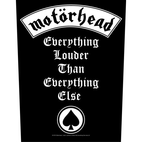 Motorhead - Everything Louder hátfelvarró