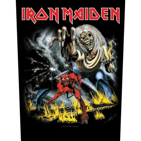 Iron Maiden - Number of the Beast hátfelvarró