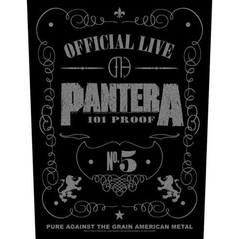 Pantera - 101% Proof hátfelvarró