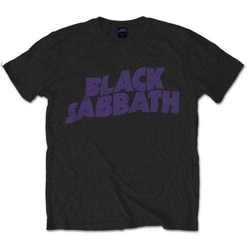 Black Sabbath - Wavy Logo Vintage póló