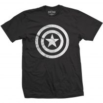 Captain America Civil War Basic Shield Distressed póló