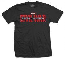 Captain America Civil War Movie Logo póló