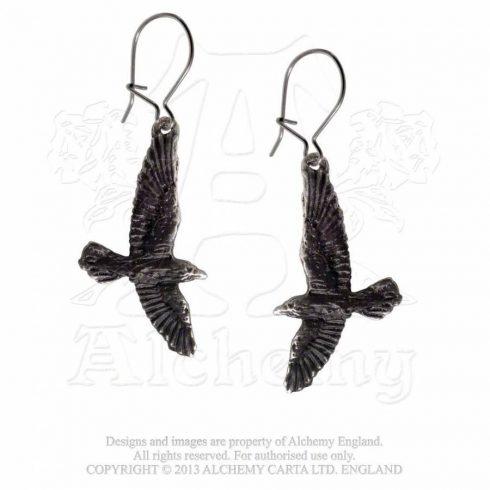 Alchemy Black Raven fülbevaló