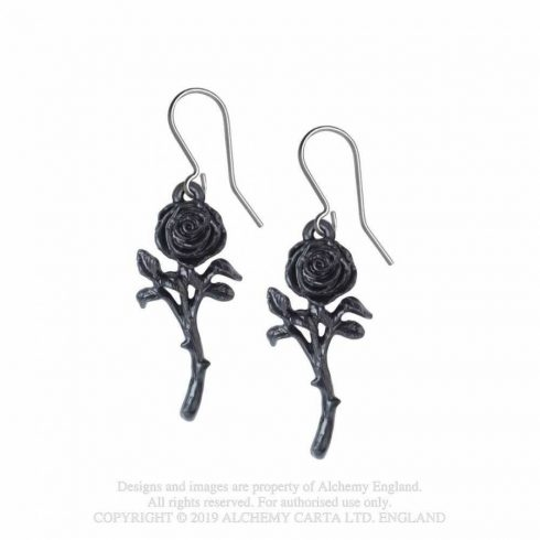 Alchemy The Romance of the Black Rose fülbevaló