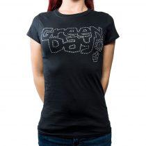 Green Day strasszköves női póló