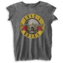 Guns N Roses - Bullet Logo Burn Out női póló