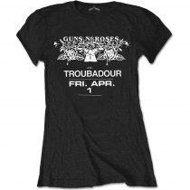 Guns N Roses - Troubadour Flyer női póló