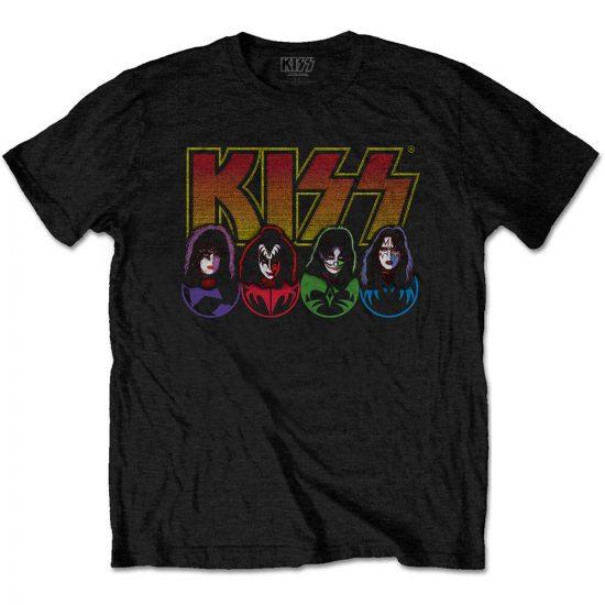 Kiss - Logo, Faces & Icons póló