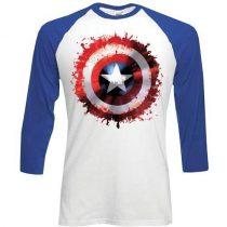 Captain America Splat baseball póló