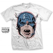 Captain America Big Head Distressed póló