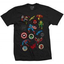 Marvel Comics - Random Badges póló