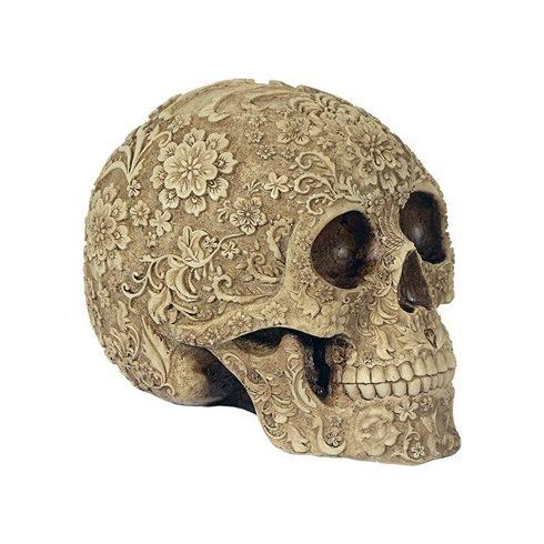 Virágmintás koponya