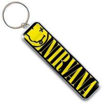 Nirvana - Smiley & Logo fém kulcstartó