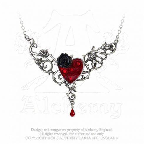 Alchemy The Blood Rose Heart nyaklánc