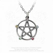 Alchemy Wiccan Elemental Pentacle nyaklánc