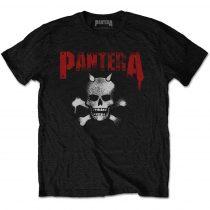 Pantera - Horned Skull Stencil (Back Print) póló