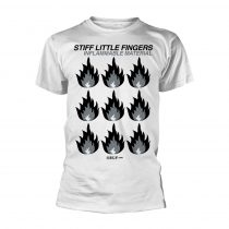 Stiff Little Fingers - INFLAMMABLE MATERIAL (WHITE) póló