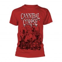 Cannibal Corpse - PILE OF SKULLS 2018 (RED) póló
