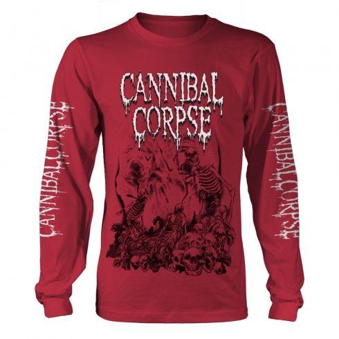 Cannibal Corpse - PILE OF SKULLS 2018 (RED) hosszú ujjú póló