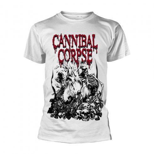 Cannibal Corpse - PILE OF SKULLS (WHITE) póló