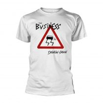 The Business - DRINKIN + DRIVIN (WHITE) póló