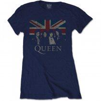 Queen - Vintage Union Jack női póló