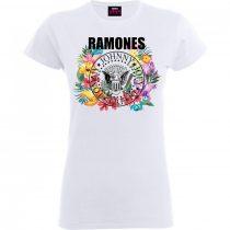 Ramones - Circle Flowers női póló