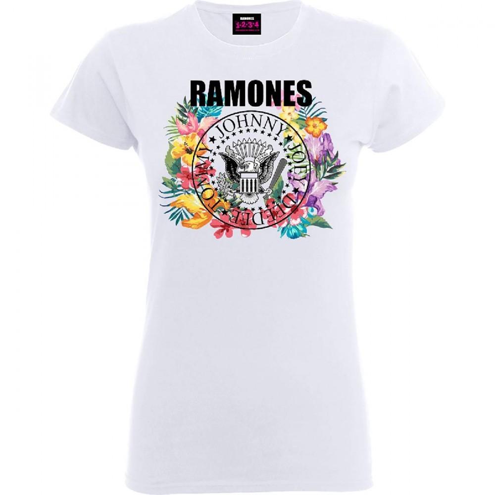 Ramones - Circle Flowers női póló - RockStore.hu - Rockzenei ... 62a3a07d64