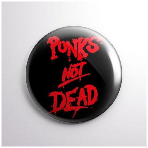 Punks Not Dead kitűző