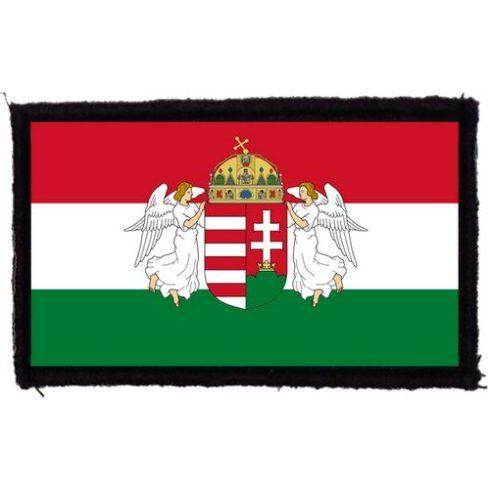 Magyar zászló angyalokkal felvarró