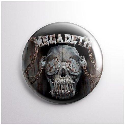 Megadeth - Skull kitűző