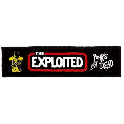 Exploited - Logo Punks Not Dead Superstrip felvarró