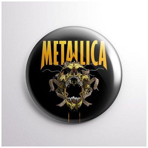 Metallica - Skull kitűző
