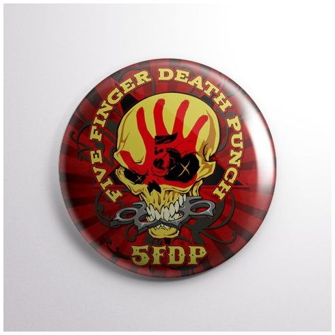 Five Finger Death Punch - Skull kitűző